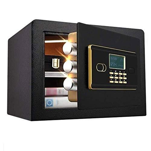 Kluisje veiligheid kan anti-diefstal elektronische veilige installatie bevestigen – meerkleurig – 36 x 30 x 26,5 cm Insurance Box meubelkluis zwart
