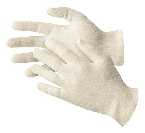 Jah 3203/algod/ón Guante, que garantiza, ligera, color blanco, tama/ño 7, 24/unidades