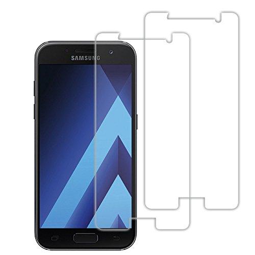 Acelive Samsung A5 2017 Schutzfolie, 2 Stück Gehärtetem Glas Panzerglas Bildschirmschutzfolie Folie für Samsung Galaxy A5 2017(Bewusst Kleiner Als Das Bildschirm, Da Dieses Gewölbt Ist
