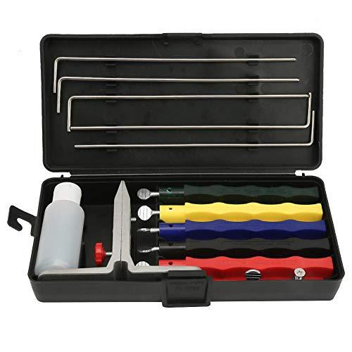 Schärfstein, Schleifer Schärfstein Set Professionelle Küche Fix-Angle Knife Sharpener System Kit, für Haus und Küche messerschärfer set