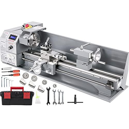 Mophorn Mini Drehbank 220x600mm Drehmaschine Metall 1.1KW Mini Drechselbank für Metallbearbeitung Drehbank Metall präzise einfach zu bedienen