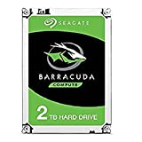 Seagate 2 TB BarraCuda Disque dur interne 3.5' (7200 RPM, 64 MB Cache, SATA 6 Gb/s, Up to 210 MB/s, ST2000DMZ08/DM008)