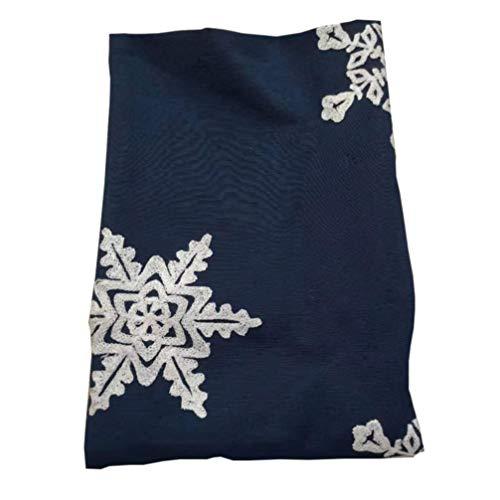 Cabilock Mantel de Copo de Nieve a Prueba de Aceite E Impermeable Mantel Rectangular Mantel Decorativo para Navidad Y Acción de Gracias (Azul 140X180)