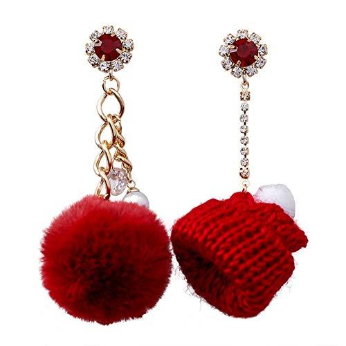 YYB-Scarf Bufanda Cómoda Práctica Sombrero Diseño pompón Espumoso Diamante de imitación Perla...
