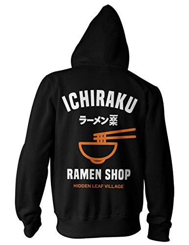 Ripple Junction Naruto - Shippuden Ichiraku Ramen Adult Zip Hoodie Medium Black