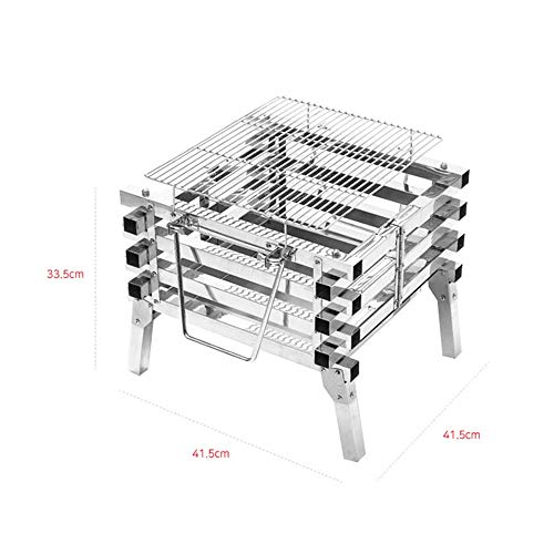 41 ChS9CRbL. SL500  - YWSZJ Edelstahl Camping Folding Tragbarer Barbecue Grill Holzkohlegrill Holz Feuer Bonfire Grill Herd