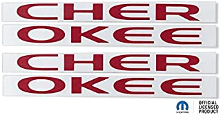 Reflective Concepts CHEROKEE Door Emblem Overlay Decal Stickers - Fits: 2014-2018 Jeep Cherokee - (Color: Sublime Green)