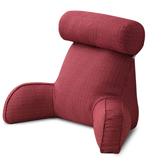 S-TROUBLE Almohada para Esposo Almohada extraíble Multifuncional para Cintura Grande con Respaldo de algodón Suave de Primera Calidad, 29.5x15.8x15.8 Pulgadas para Leer/Relajarse/Mirar