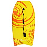 MOON LENCE Body Board Lightweight with EPS Core & Wrist Leash 33-41 Inch Body Board with Slick Bottom for Sea, Beach, Pool, Surfing for Kids Teens and Adults(1 PC)