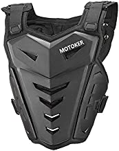 Motoker Motorcycle Armor Vest Motorcycle Riding Chest Armor Back Protector Armor Motocross Off-Road Racing Vest (Black)
