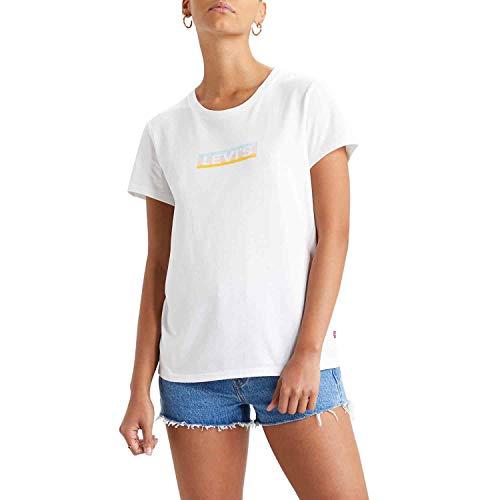 Levi's Levis Women's Logo Perfect Tee Shirt, Kombi(boxtabgradientwhite), Gr. M
