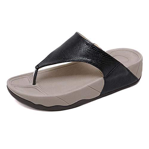 YRYBZ Comfort Chaussure pour Femmes Été Sandale Pantoufles - Dame Chaussures et Mocassins - Pantoufle de Plage & Piscine Adulte Sandales/Black Snake Skin / 37