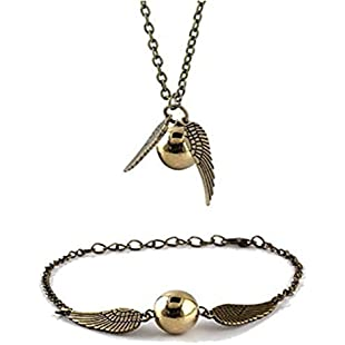 Harry Potter Golden Snitch Bracelet or Necklace - SHIPPED FROM UK:Hotviral