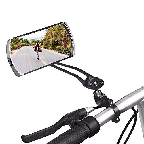 Pvnoocy 1 espejo retrovisor universal para manillar de bicicleta, espejo giratorio 360°,...