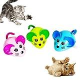 NA xinxinmaoyan Juguetes para Gatos - Juguetes Interactivos para Gatos, Gatos para Mascotas, Gatito, Lindo Ratón, Forma De Reloj, Divertido, Saltar, Jugar, Juguete para Rascar Rosado