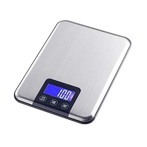 5000g * 1g Digitale Keukenweegschaal 5KGx1g Grote Slanke Roestvrijstalen Voedingsdieet Gewicht Elektronische Weegschalen Touch Button Kookgereedschap