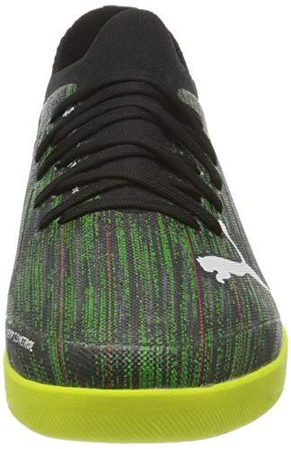 PUMA Ultra 3.2 IT, Zapatillas de Futsal Hombre, Negro Blanco Amarillo Alert, 38 EU
