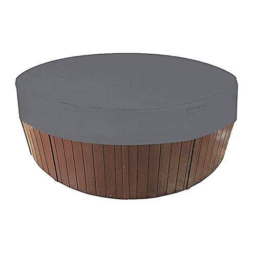 IJNBHU Cubierta de SPA Redondo para, Funda para Bañera de Hidromasaje Cubierta SPA, Cubierta para Protección De Jacuzzi, 190T Oxford Fabric Rattan Furniture Cover, 4 Colores