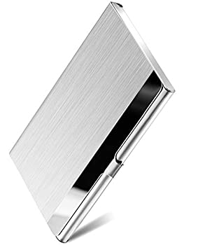 MaxGear Metal Business Card Holder for Men & Women Pocket Business Card Case Slim Business Card Wallet Business Card Holders Name Card Holder 3.7 x 2.3 x 0.3 inches Stainless Steel Silver Mirror