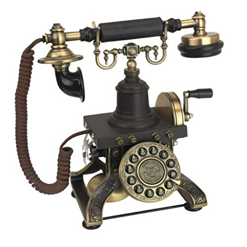 FZYE 1892 Teléfono Antiguo Europeo - Vintage Manivela República Nostalgia Botón de Inicio Marcación Retro Teléfono Fijo por Tonos
