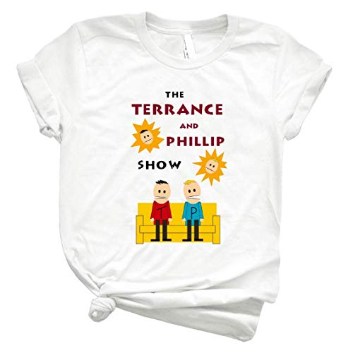 Hunter Direct South Park Terrance and Phillip T Shirt Gift Tee Graphic for Womens Man White