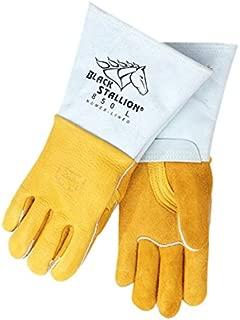 Revco 850-LG Black Stallion Glove, Elk Skin Gauntlet Cuff, Large (1 Pair)