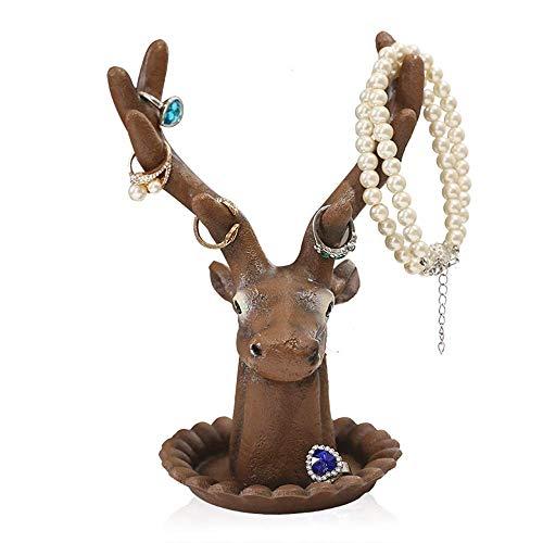 Estante de joyería Exhibición de joyería Bandeja de suspensión Polyresin Forma de Mano Pulsera Anillo Collar Soporte Soporte Torres de joyería