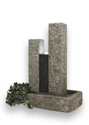 FELLA Granitbrunnen mit 3 Pumpen und LED-Beleuchtung Gewicht 200 kg Diamond Garden