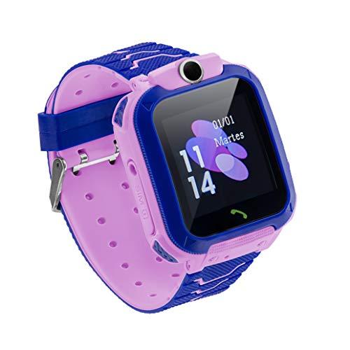 Sami - Junior - Smartwatch, Reloj Inteligente Junior, Smartband, Pulsera de Actividad Deportiva. para Android y iOS. WiFi,Número SOS,GPS,Función Valla, Cámara y Escucha Remota, Multideportivo. Rosa.