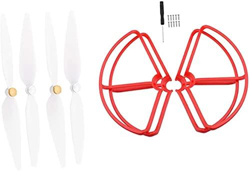 FBUWX Gabbia e Puntelli di Protezione per Pale dell elica 4 Pezzi per Xiaomi Mi Drone 4K Mini Quadricottero Bianco + Bianco, Accessori di Ricambio RC ( Colore : Rosso ) Efficiente