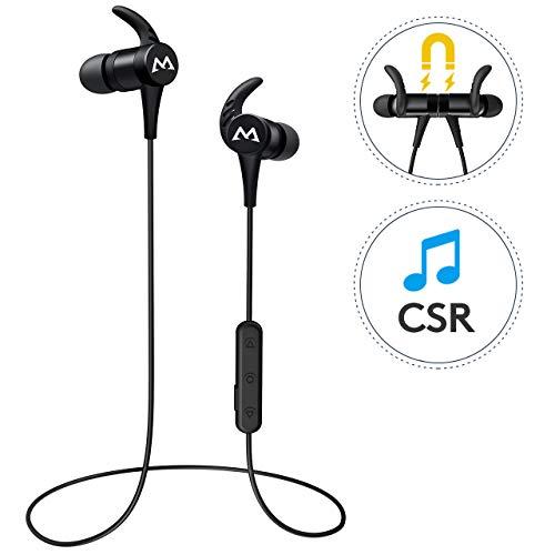 Mpow Auricolari Bluetooth Sport, Cuffie Bluetooth 4.1 Resistente al Sudore, Auricolari Wireless Sport con qualità del Suono HD, 10 Ore di Riproduzione, Microfono Incorporato per iOS, Android