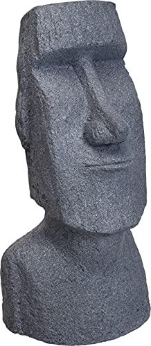 Buddha XXL Statue creme Skulptur 74,5 cm hoch Garten Deko Buddhakopf innen + außen Feng Shui wetterbeständig