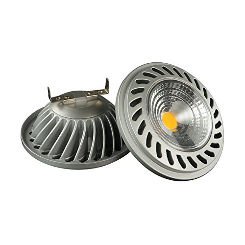 LightED QR111 Bombilla LED 40K G5.3, 15 W, Gris, 111 x 63 mm