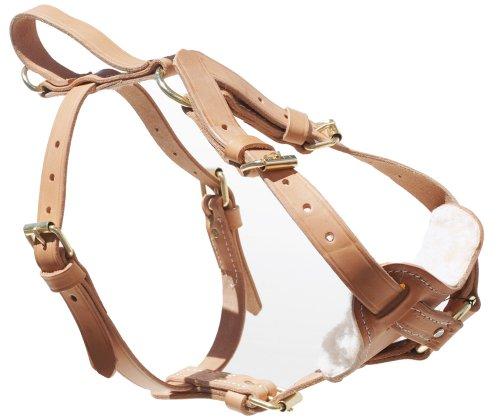 Signature K9 Leather Tracking Harness, Medium, Tan