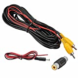 Backup Camera RCA Video Cable,Car Reverse Rear View Camera Video Cable with Detection Wire(33FT/10 Meters),AV Extension Cable with RCA Video Female to Female Coupler and Power Cable