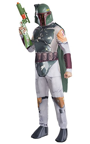 Rubies Disfraz s de Boba Fett (Star Wars) para hombre, talla estándar (pecho: 112 cm, cintura: de 76 cm a 86 cm, tiro: 83 cm)