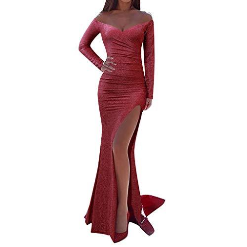 Vestido Ajustado sin Mangas de Encaje Sexy, Kanpola Vestido Largo de Fiesta con Estampado Hueco para Mujer Vestidos de cóctel de Noche