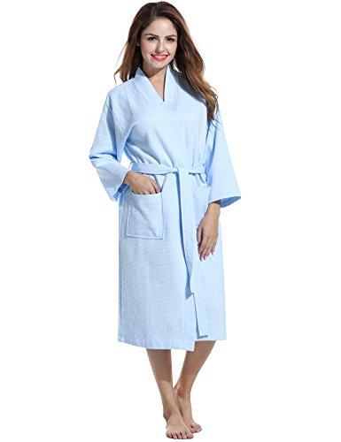 Avidlove Women Soft Waffle-Weave Bathrobe Kimono Spa Hotel Cotton Robe Sleepwear
