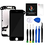 Keytas Compatible with iPhone 7 Plus Screen Replacement Kit Black 5.5' LCD for iPhone 7 Plus 3D Touch Screen Digitizer Full Assembly with Front Camera+ Earpiece+ Tools Kit+ Screen Protector (Black).