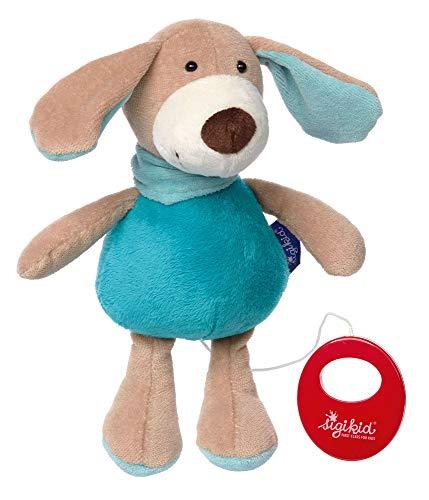 sigikid, Jungen, Spieluhr, Stofftier Hund, Blue Collection, Blau, 41855