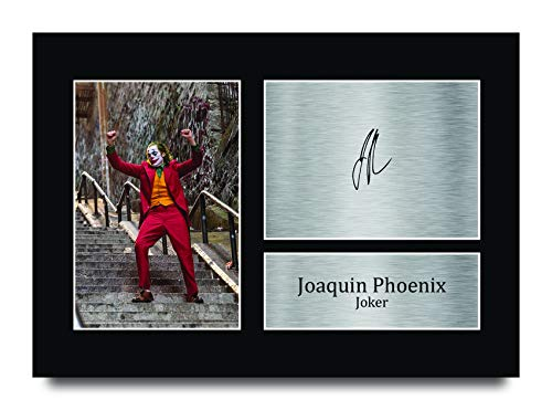 HWC Trading Joaquin Pheonix Gifts, Foto autografata per Fan dei Film, Joaquin Pheonix (A4 Unframed), A4