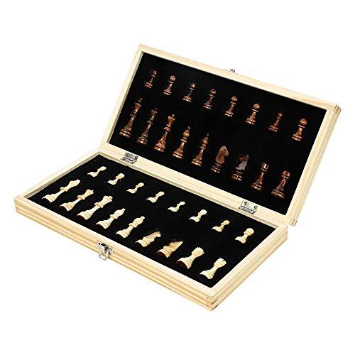 BIMUS WSF-Ajedrez, 1set de Madera Plegable Conjunto de ajedrez magnético de Madera Maciza Piezas magnéticas de Entretenimiento Juegos de Mesa de Entretenimiento Regalos para niños (Color : W3)