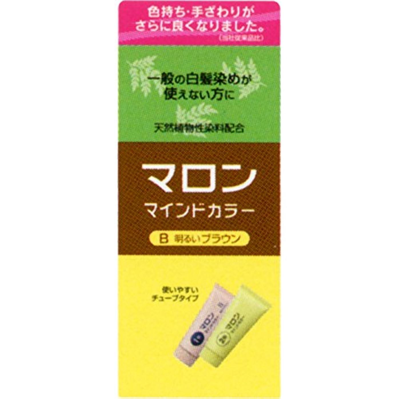 反逆者酸化物感性ヘンケルライオンコスメティックス マロン マインドカラー B 明るいブラウン 70G+70G (医薬部外品)