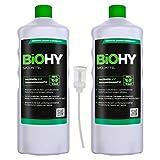 BIOHY Spülmittel (3x1l Flasche) + Dosierer | Frei von schädlichen Chemikalien & biologisch...