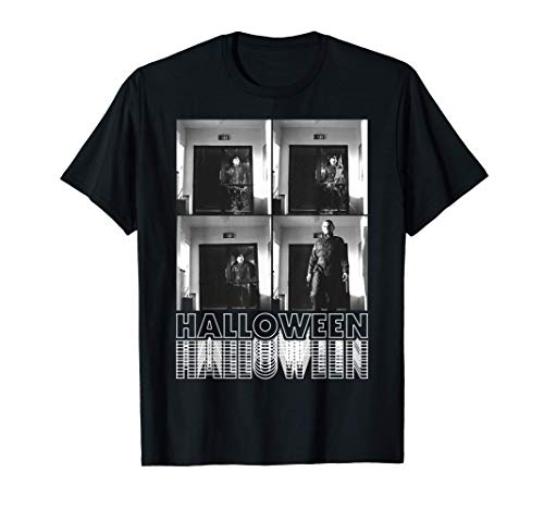 Halloween Michael Myers Scene Box Up Camiseta