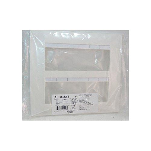 plaque schneider electric altira - 2 x 3 postes - entraxe 45 mm - blanc