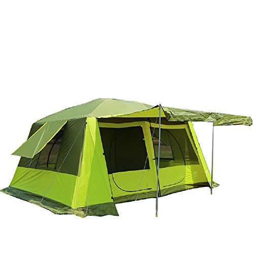 GRNTAMN Waterproof Cabin 10 Person Tent (Green)