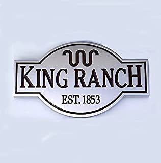 1pc OEM King Ranch Front Door Tailgate Emblem Badge 3D Nameplate Replacement for F150 F250 F350 Genuine Silver