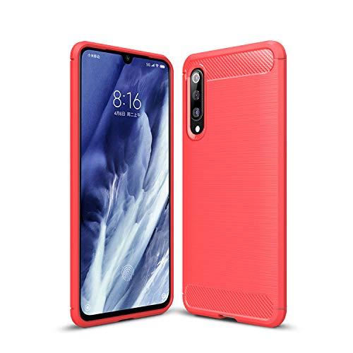 FanTing Capa para Xiaomi Mi 9 Pro 5G, antiderrapante, ultrafina, absorção de choque, proteção contra arranhões, capa para Xiaomi Mi 9 Pro 5G - Vermelho