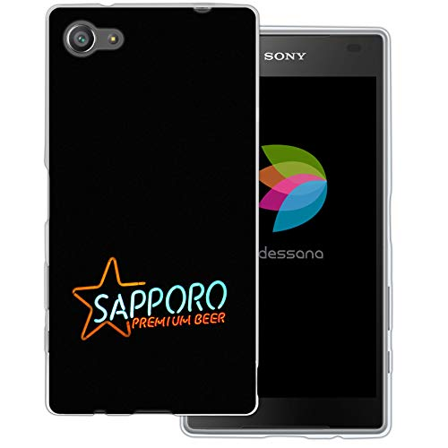dessana Japan Sightseeing transparante beschermhoes mobiele telefoon case cover tas voor Sony, Sony Xperia Z5 Compact, Sapporo Bier